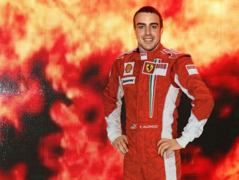 Alonso en Ferrari, en 2007.
