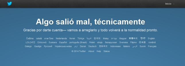 Twitter - Error